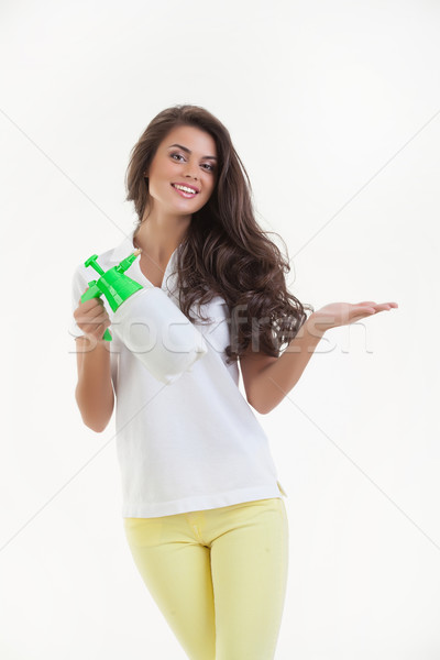 Young Woman With A Sprayer Stock photo © user_9834712