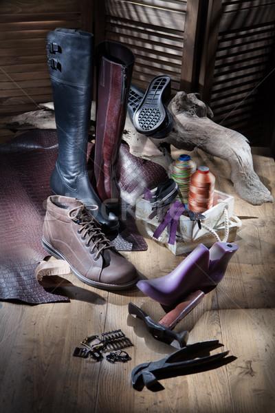Csendélet cipők divat háttér sportok szépség Stock fotó © user_9834712