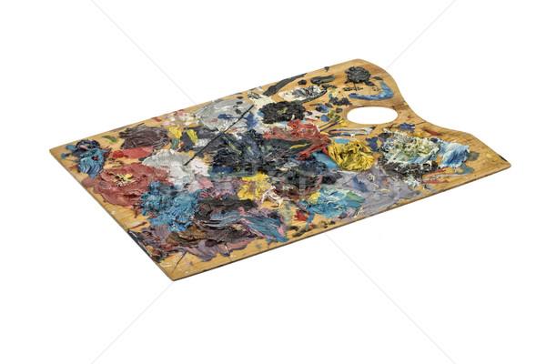 Paletine eski ahşap boya yalıtılmış stüdyo Stok fotoğraf © user_9834712