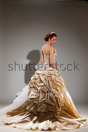 Jóvenes mujer hermosa de moda vestido estudio nina Foto stock © user_9834712