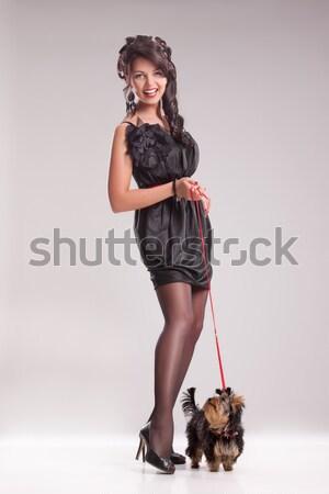 Karanlık melek genç kadın erotik giyim kadın Stok fotoğraf © user_9834712