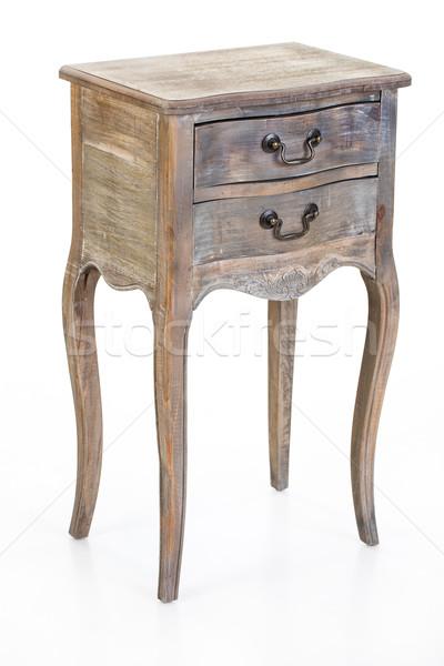 öreg fából készült izolált stúdió bútor retro Stock fotó © user_9834712