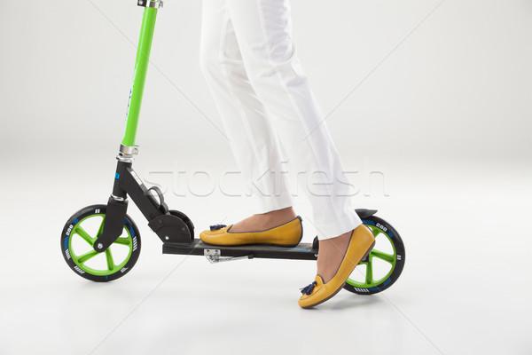 Stock fotó: Lábak · lökés · bicikli · nő · nők · test