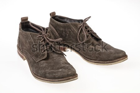 Pair Of Suede Shoes On White Stock photo © user_9834712