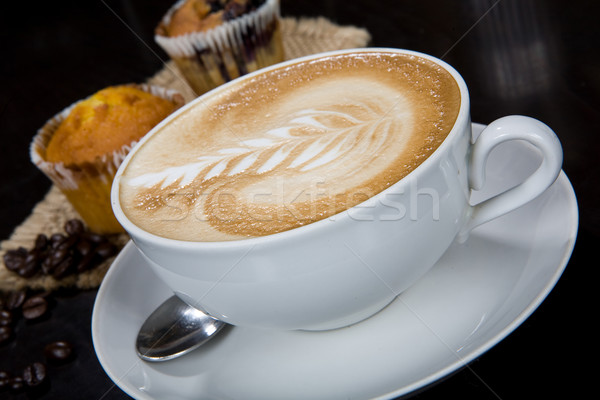 White Cup Of Latte Stock photo © user_9834712