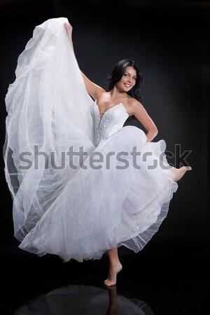 Młodych topless kobieta biały Zdjęcia stock © user_9834712