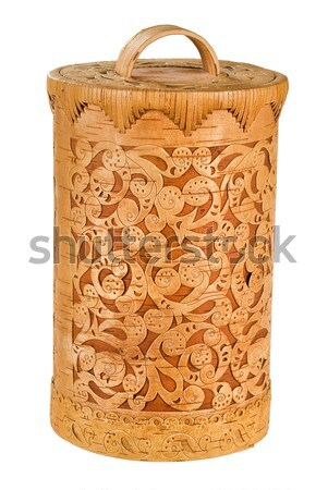 Russian National Wooden Tableware Stock photo © user_9834712