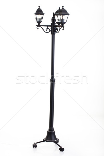 öreg lámpás fém izolált stúdió retro Stock fotó © user_9834712