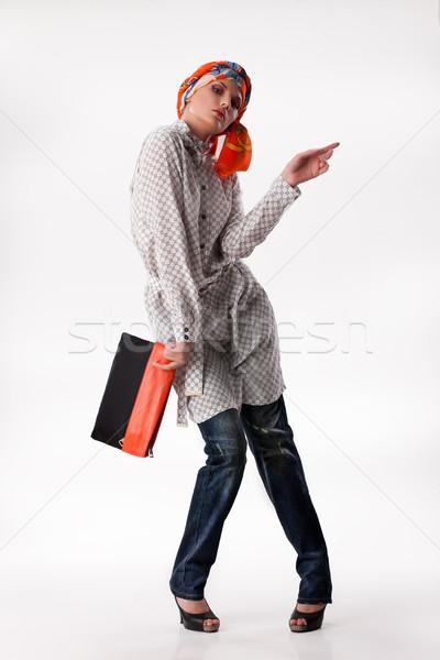 Jóvenes mujer hermosa ropa mujer atractiva de moda aislado Foto stock © user_9834712