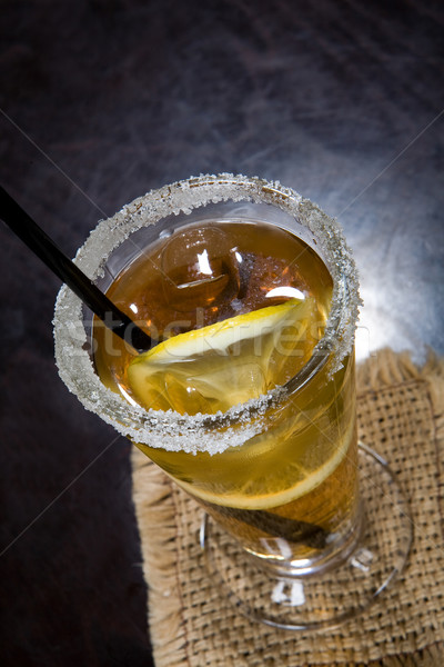 Cocktails vidro coquetel gelo restaurante Foto stock © user_9834712