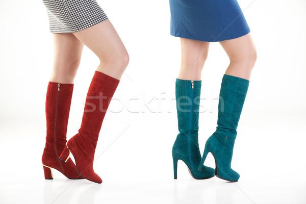 Piernas zapatos aislado mujer mujeres cuerpo Foto stock © user_9834712