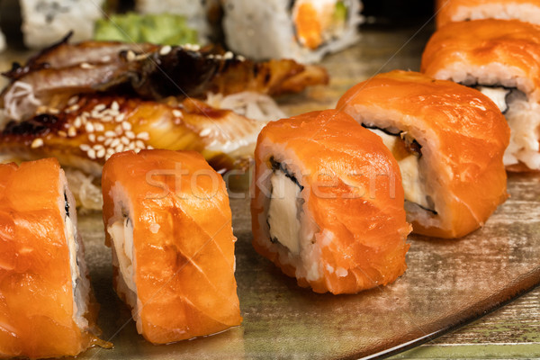 Japanese Sushi On A Table Stock photo © user_9834712