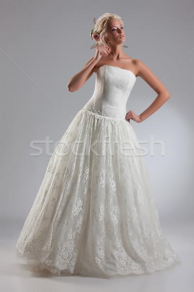 小さな 美しい 花嫁 ファッショナブル ウェディングドレス ストックフォト © user_9834712