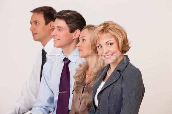 Grupo jóvenes aislado mujer oficina hombre Foto stock © user_9834712