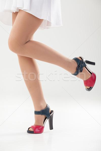 Lábak cipők izolált nő nők test Stock fotó © user_9834712