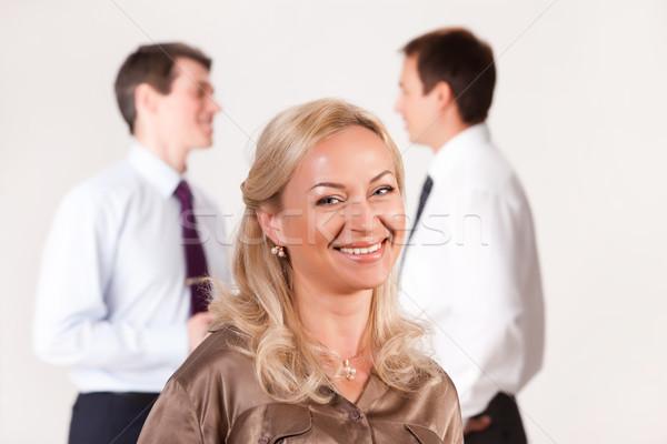 Csoport fiatalok izolált iroda férfi nők Stock fotó © user_9834712