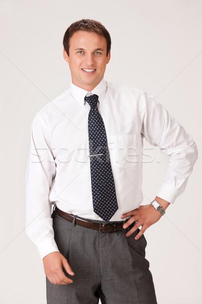 小さな 男 ビジネス スーツ ビジネスマン ストックフォト © user_9834712