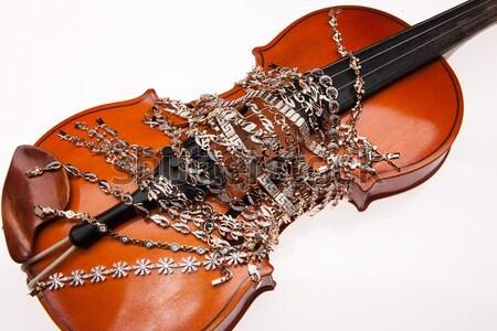 Or violon beauté anneau Photo stock © user_9834712