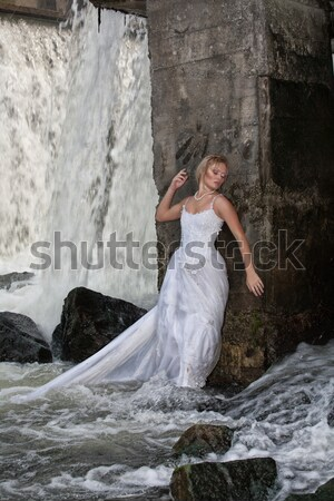 Young Bride On A River Stock photo © user_9834712