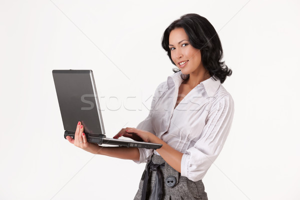 Cuaderno manos Internet trabajo Foto stock © user_9834712