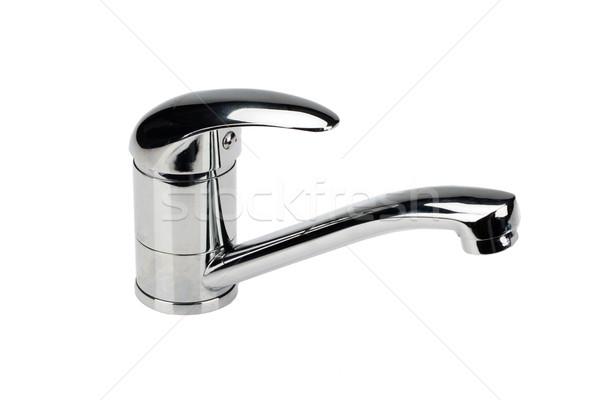 металл хром воды смеситель изолированный строительство Сток-фото © user_9834712