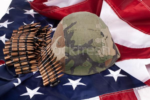 флаг шлема группы армии американский флаг звездой Сток-фото © user_9834712