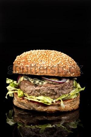 ハンバーガー 野菜 牛肉 トマト 高速 新鮮な ストックフォト © user_9834712