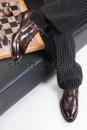 Man's Legs And Chess Stock photo © user_9834712