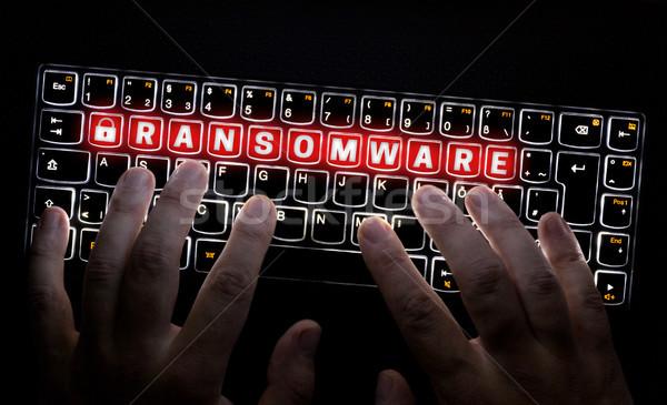 клавиатура хакер рук блокировка написать больным Сток-фото © user_9870494