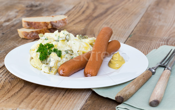 Potato salad with sausage and mustard Stock photo © user_9870494