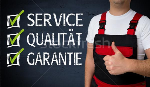 службе качество гарантия зеленый помочь работу Сток-фото © user_9870494