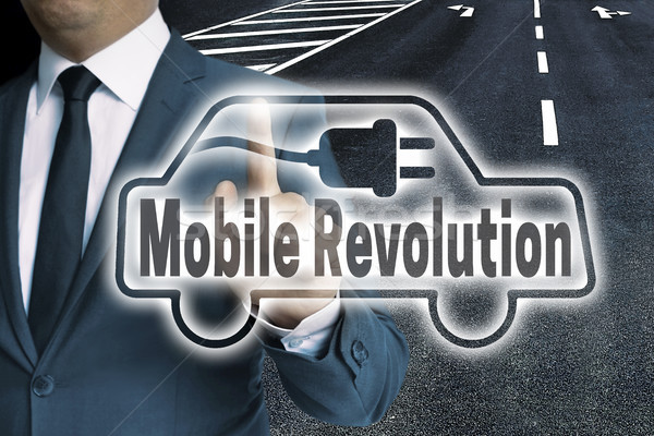 Mobile Revolution Auto touchscreen is man-operated concept Stock photo © user_9870494