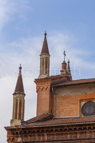 Historic facade of Bologna Emilia Romagna Italy Stock photo © user_9870494
