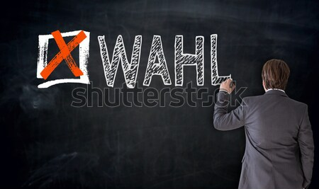 Checklist with free text hand writes on blackboard Stock photo © user_9870494