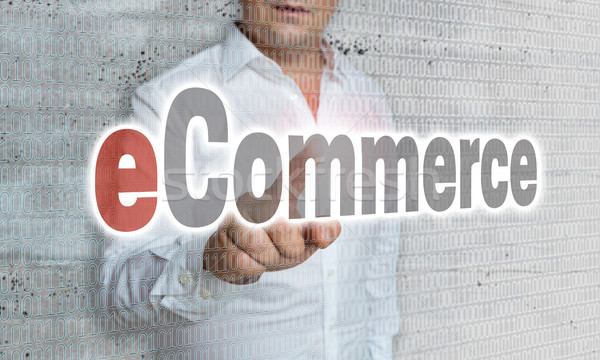 eCommerce with matrix and businessman concept Stock photo © user_9870494