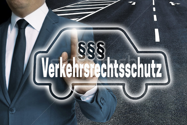 Verkehrsrechtsschutz (in german Protection of the traffic law) C Stock photo © user_9870494