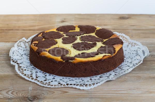 русский торт деревенский древесины десерта Сток-фото © user_9870494