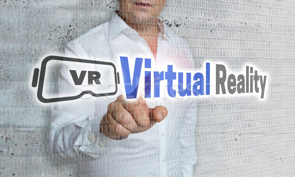Virtual realidad matriz empresario negocios ordenador Foto stock © user_9870494