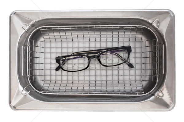 Professional cleaning glasses with an ultrasonic cleaner Stock photo © user_9870494