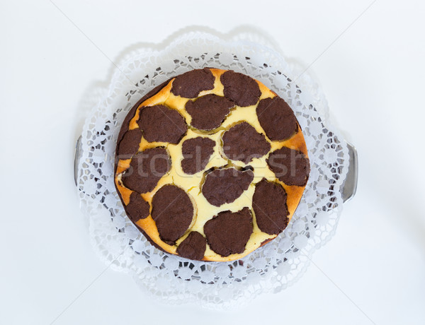 Russian cheese cake isolated on light background Stock photo © user_9870494