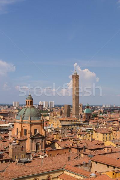 Panorama of Bologna Emilia Romagna Italy Stock photo © user_9870494