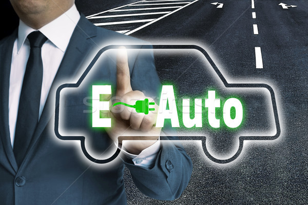 E-Auto touchscreen is operated by man Stock photo © user_9870494
