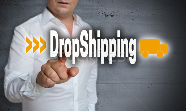 Dropshipping touchscreen is operated by man Stock photo © user_9870494