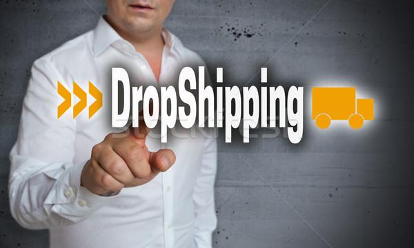 érintőképernyő férfi menedzser póló ujj ötlet Stock fotó © user_9870494