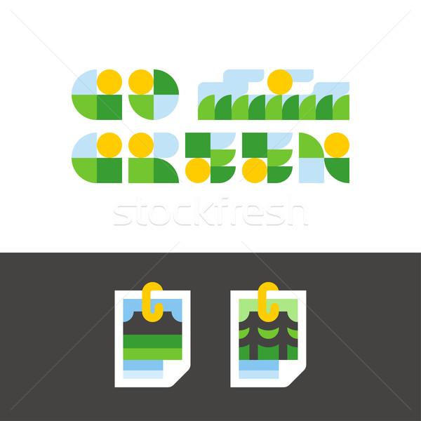 среде день зеленый фото природы стилизованный Сток-фото © ussr