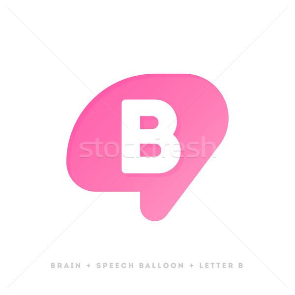 современных логотип шаблон икона мозг письме Сток-фото © ussr