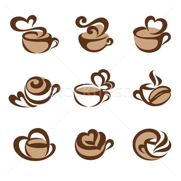 Coffee. Vector logo template set. Elements for design. Icons set Stock photo © ussr