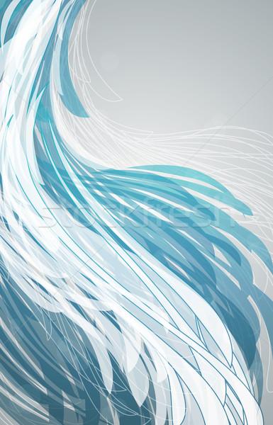 Stockfoto: Abstract · Blauw · ontwerp · achtergrond · druk · witte