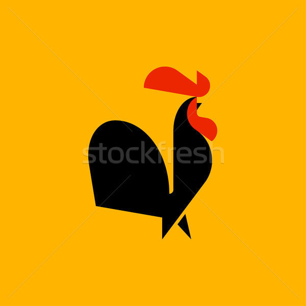 черный петух стиль вектора логотип шаблон Сток-фото © ussr