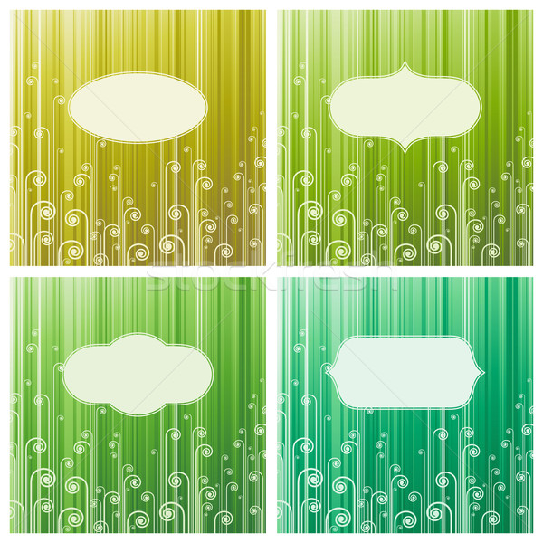 Abstract green swirls. Vector illustration. Stock photo © ussr